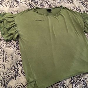 Agnes & Dora green bell sleeve top xl